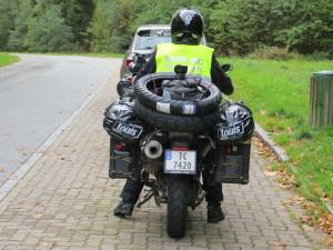 Sykkelen til Åse er ferdigpakket for den lange reisen!